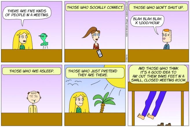 Strip 16 - 01-06-19 - People in Meetings
