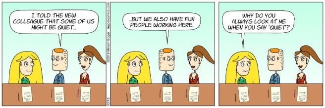 Strip 82 - 03-13-19 - New Colleague